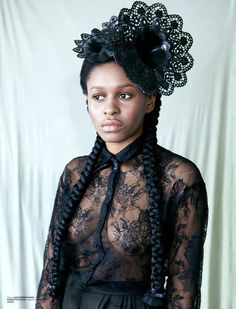 Afro goth. Gorgeous!