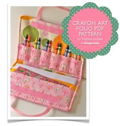 Crayon+Holder+PDF+Sewing+Pattern+Carrying+Case+for+by+ginia18,+$9.00