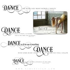 Each of these beautiful word art stamps comes as a .png file, which can quickly and easily be applied over any of your digital images or templates. #WordArt #Dance #Photographers