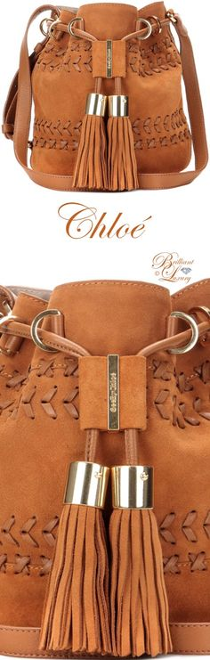 Chloé Vicki Small Suede And Leather Bucket Bag