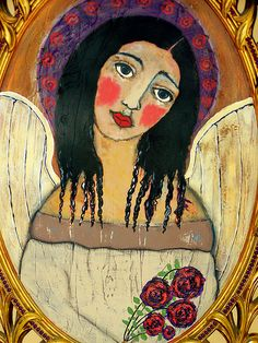 Mexican folk art angel by thebrokencrow