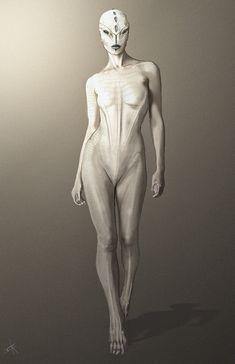 Alien female full body design by Imogene Ann Kilar. Looks like a much better Engineer to me.