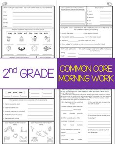Second Grade Morning Work Year-Long Bundle {Common Core Aligned} is filled with 180 fun, engaging, and educational worksheets.