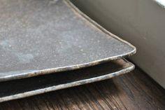 掛江祐造 角皿(黒) 作家もののうつわ 陶器・和食器販売【WAGOKORO】