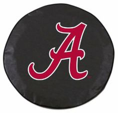 University of Alabama Tire Cover with Script logo on stylish Black vinyl by Covers by HBS by Covers by HBS. $29.99. Made in the USA. Officially Licensed. Logo is applied using a Step-by-Step Screen Print process for exceptional detail. Tire Cover is made by hand and not by machine. Made from the highest-quality, commercial Vinyl available. This University of Alabama Tire Cover is hand-made in the USA, using the finest commercial grade vinyl and utilizing a step-by-step screen ...