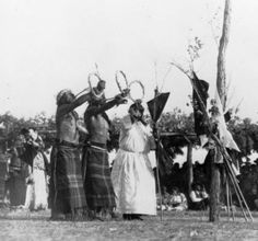 Sun Dance at Pine Ridge, South Dakota 1950-1960.