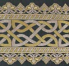 Celtic Knot Brocade Trim