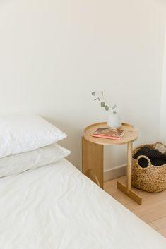 minimalist bedside styling