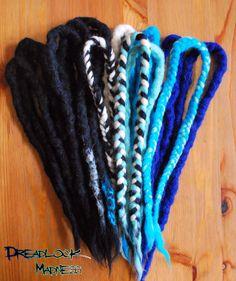 My newest creation for Katie :) #dreads #dreadlocks #braids #wool #roving #fairy #boho #hippie #ozora #boom #burning #man rave
