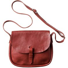 Toast Peggy Bag (200.355 COP) ❤ liked on Polyvore featuring bags, handbags, shoulder bags, accessories, purses, fillers, red, leather satchel purse, leather handbags and handbag satchel