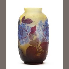 An Emile Gallé cameo glass vase Circa 1900