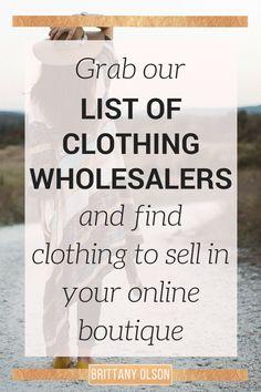 Online boutique clothing wholesalers list. Find wholesale clothing for online…