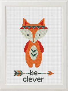Baby Cross Stitch Pattern PDF, Woodland Animals set Baby Shower Gift, Be clever Be brave Be kind Nursery Embroidery Fox Bear Bunny Deer DIY Baby Cross Stitch Pattern PDF … Baby Cross Stitch Patterns, Cross Stitch Baby, Cross Stitch Animals, Modern Cross Stitch, Cross Stitch Designs, Cross Stitching, Cross Stitch Embroidery, Etsy Embroidery, 8bit Art