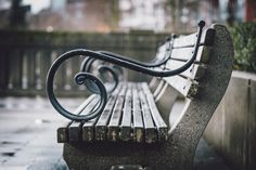Wet Seat - A damp bench in Coal Harbour.
