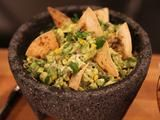 Roasted Corn Guacamole with Cumin Scented Tortilla Chips (Southwest Snack)