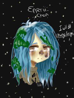 Earth-Chan^^ by Killercuppy on DeviantArt Space Anime, Earth Drawings, Anime Version, Popular Anime, 19 Days, Human Art, Image Macro, Manga Girl, Anime Style