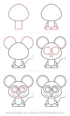 How to draw a penguin in 6 easy steps christmas and for How do you draw a mouse