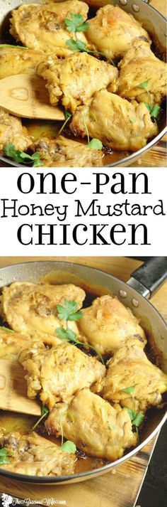 Honey Mustard Chicken Recipe- A sweet and tangy quick and easy dinner idea recipe. Make it all in 30 minutes in one pot!! So good!