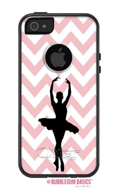 Chevron Ballet Ballerina Silhouette #FASHION SERIES Collection - #OTTERBOX Commuter iPhone 5 5S 5C 4/4s #Case  by iselltshirts
