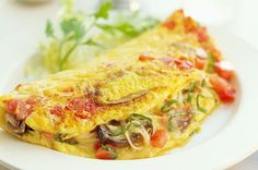 7. Mushroom and Tomato Omelet