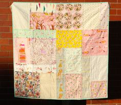 Girls Patchwork Quilt Lap Quilt Patchwork by IssabellaTheCat