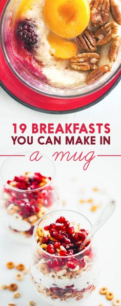 Mug breakfasts for busy mornings