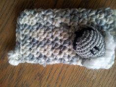 crochet sheep phone cosy