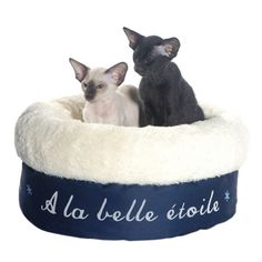 Belle Etoile Cat Bed In Navy