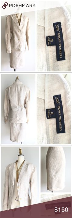 New Listing! Brooks Brothers Linen Skirt Suit Details & measurements to follow Brooks Brothers Skirts Skirt Sets