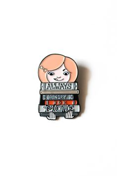 Always Hungry for More Black Metal Enamel Pin - Designed by: Taren S. Black (10.00 USD) by osloANDalfred