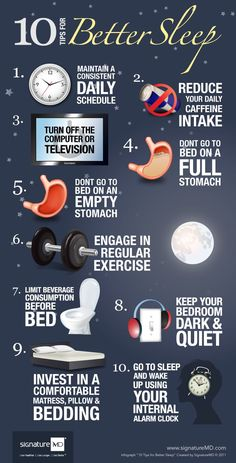 10 Tips for Better Sleep #Infographics