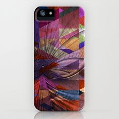 Triangle+and+Fractal+Design+iPhone+&+iPod+Case+by+Fine2art+-+$35.00