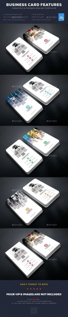 Shade Photography Business Card Template PSD. Download here: graphicriver.net...