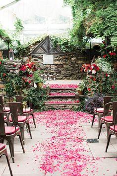 Marsala and Red Pennsylvania Wedding from Lauren Fair Photography - MODwedding