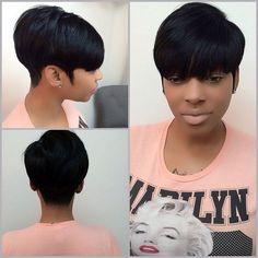 Short Black Hairstyles With Bangs Hairbylatise  Short Hairstyles  Pinterest  Hair Style Short Hair