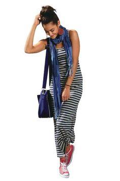 AJC Damen-Kleid Streifen-Maxikleid Mehrfarbig: Amazon.de: Bekleidung