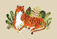 Big Cats - Illustration by Jen Collins