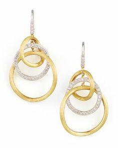 P2523 Marco Bicego Jaipur Diamond Link Drop Earrings