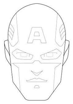 Maschera Capitan America Da Colorare Portalebambini