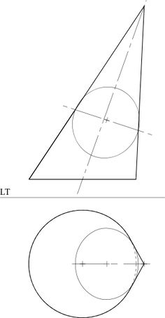Online calculator for making a flat cone. For instance
