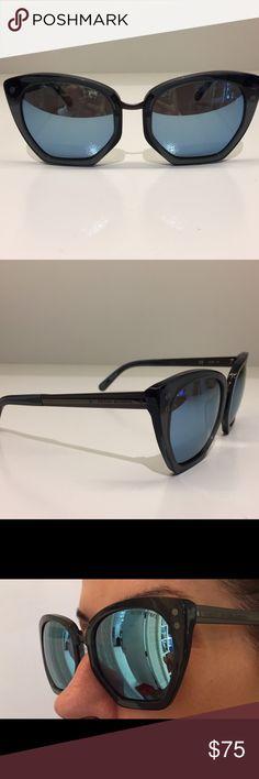 Oversize sunglasses Henri Bendel  Fashion forward oversized plastic frames with reflector frames. Slight wear. I'm including collapsible case by Henri Bendel. henri bendel Accessories Glasses