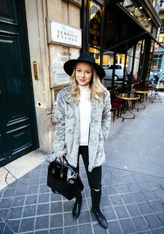 Faux Fur Coat Jonnamaista Paris Street Style