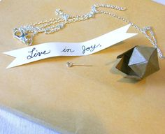 Personalized Coated Paper Charm with Message Inside by reraeshop, $20.00