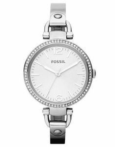Fossil - Georgia Stainless Steel Watch - Watches (Stainless Steel)