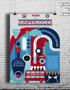 Juniperlooza 2013 by Maddie Nieman, via Behance