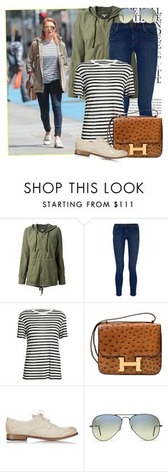 """""""Get The Look : Margot Robbie"""" by snje2105 ❤ liked on Polyvore featuring Topshop, James Perse, J Brand, T By Alexander Wang, Hermès, n.d.c. and Ray-Ban"""