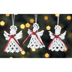 Crocheted Victorian Angels - TerrysVillage.com