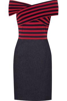DKNY  Stripe jersey denim dress