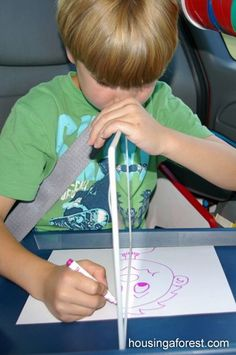 Mirror Symmetry Drawing ~ great for teaching math while kids think they are playing!