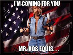 Chuck Norris isn't hung like a horse; Horses are hung like Chuck Norris. Chuck Norris Memes, Victor Wooten, Teen Tv, Thing 1, Classic Video Games, Texas Rangers, Karate, Memorial Day, Online Marketing